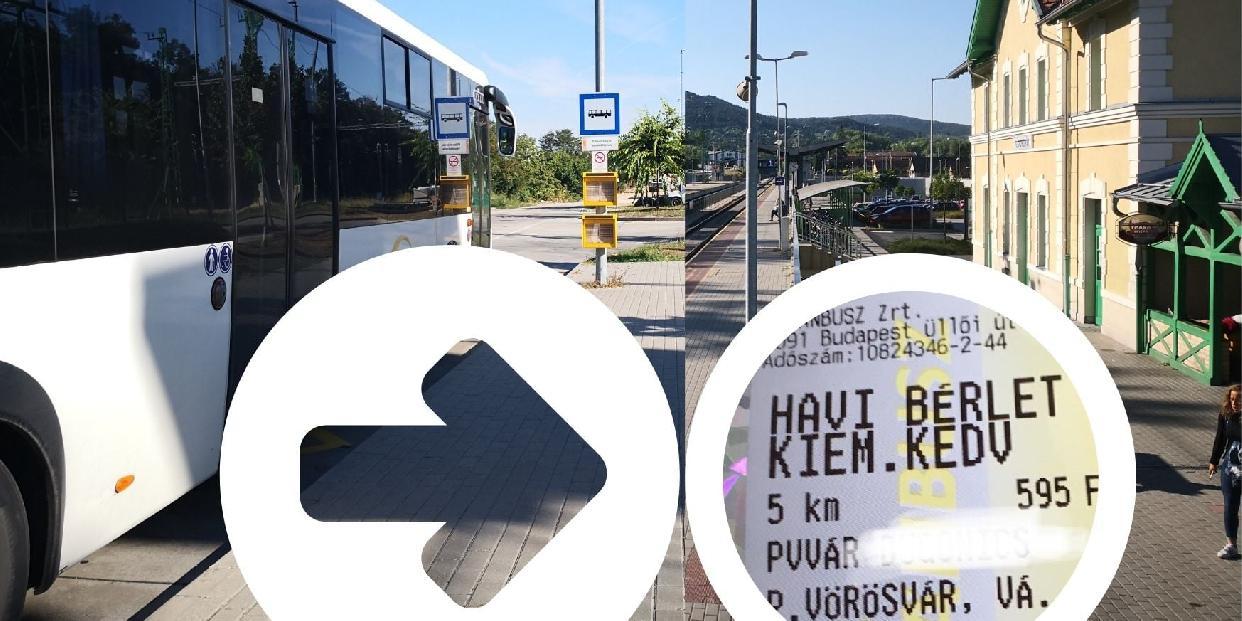 Elfogadja a MÁV a Volánbusz bérleteit a 10-es út melletti településeken